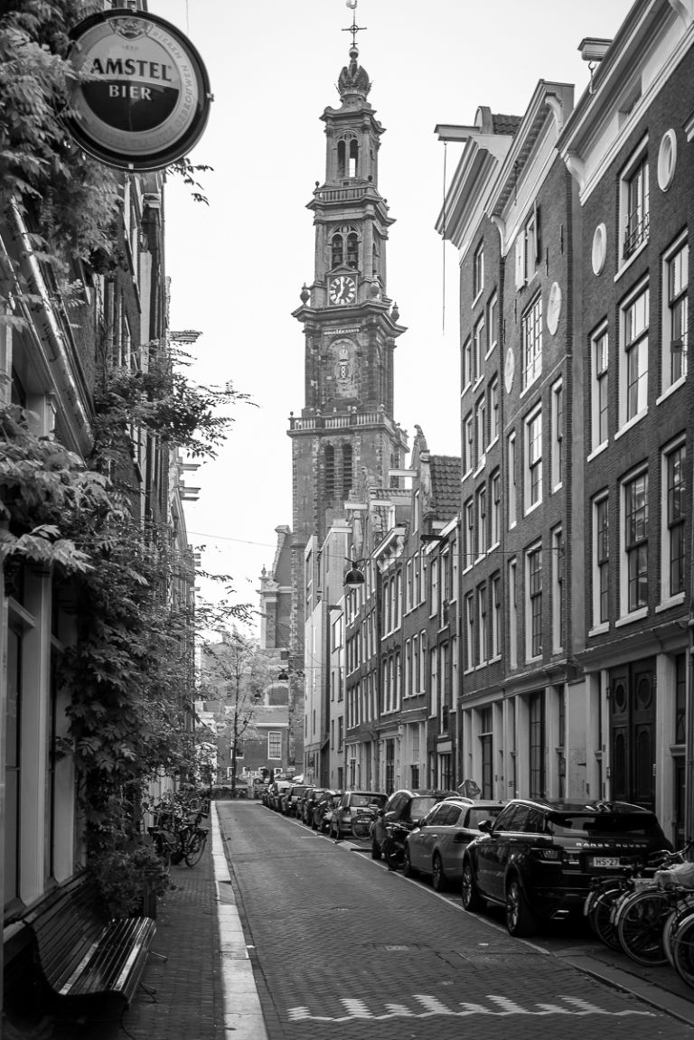 Residents wake up to the bells of the Westerkerk right across the Prinsengracht, marking the eastern flank of the Jordaan
