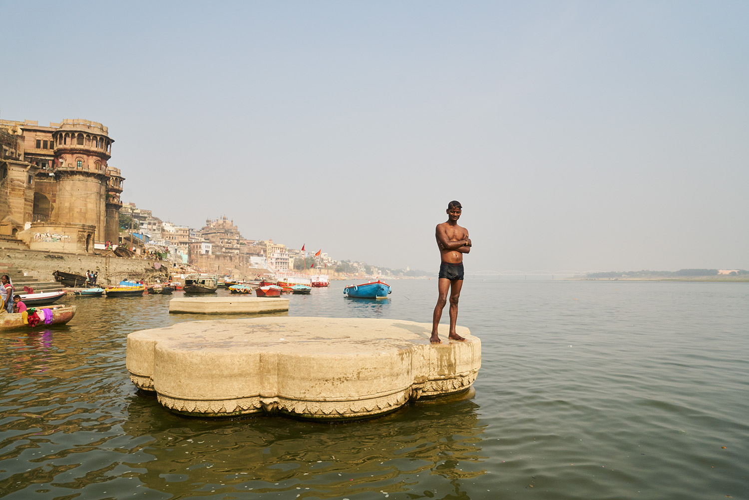 Bathing on the Ganges